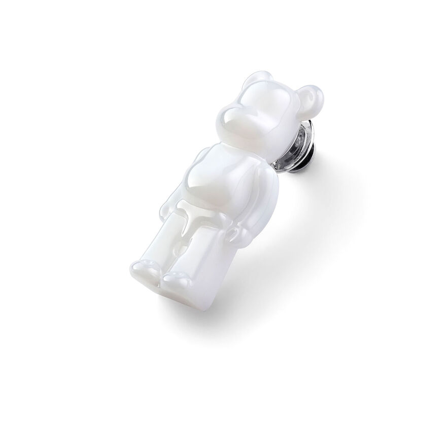 BACCARAT BE@RBRICK PINS, White